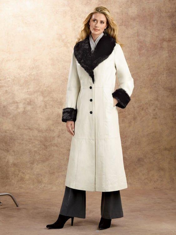 pretty cool uk cheap sale hot sales Women Full Length Leather Coat | Women Leather Coats ...