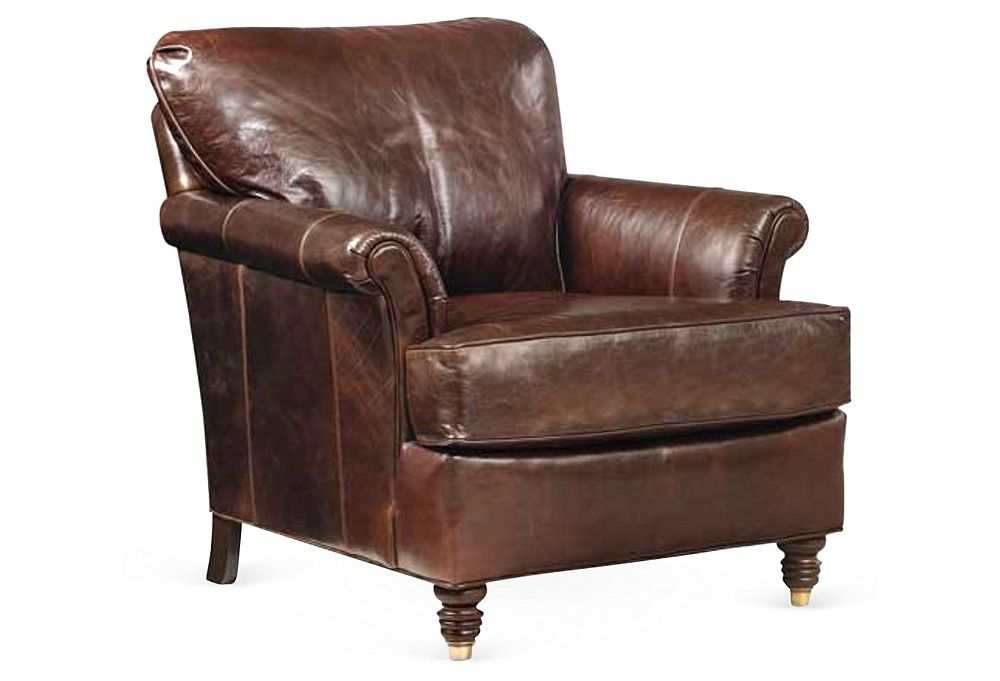 Morehead Leather Chair | One Kings Lane