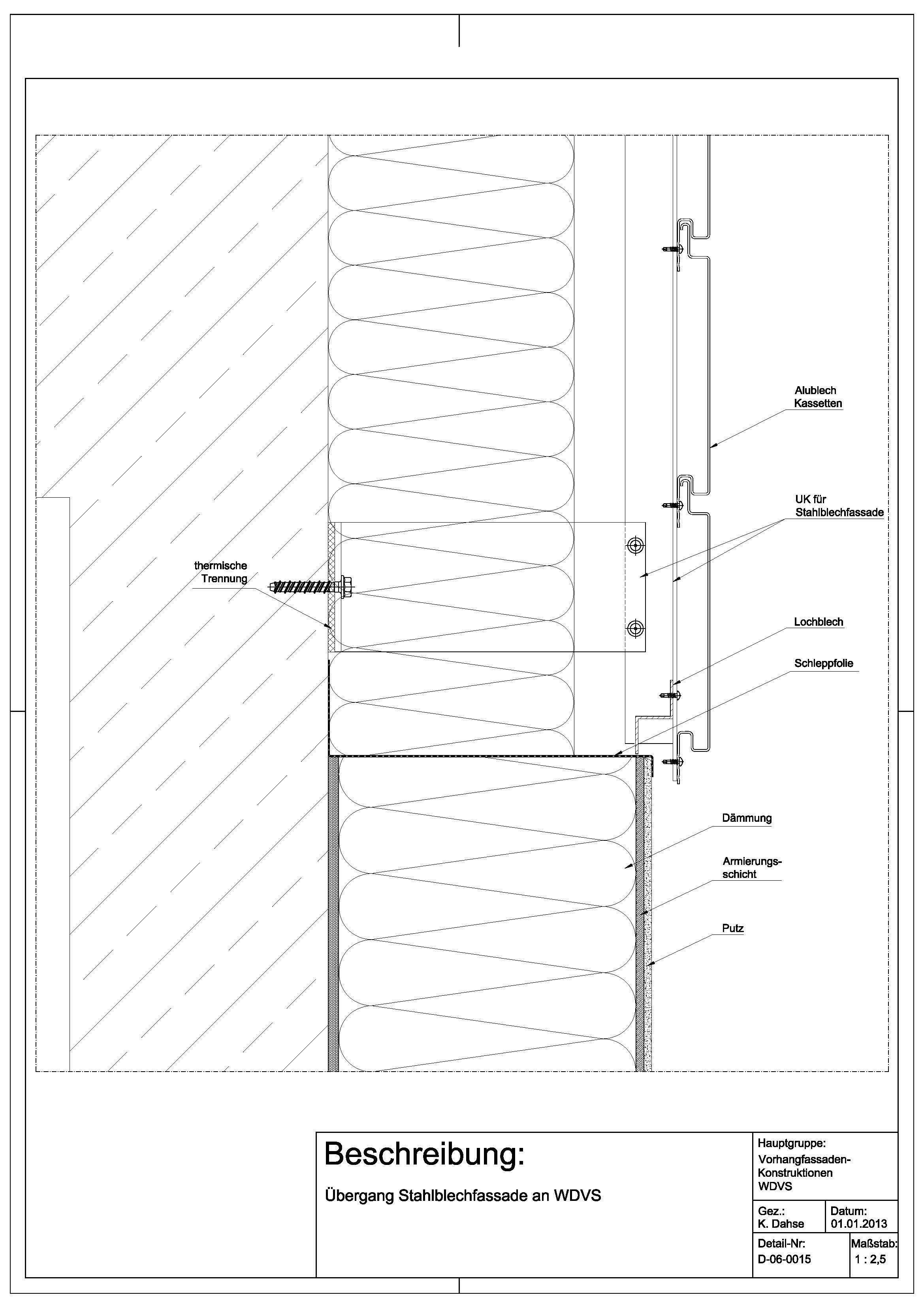 D 06 0015 220 Bergang Stahlblechfassade An Wdvs Bauhaus In