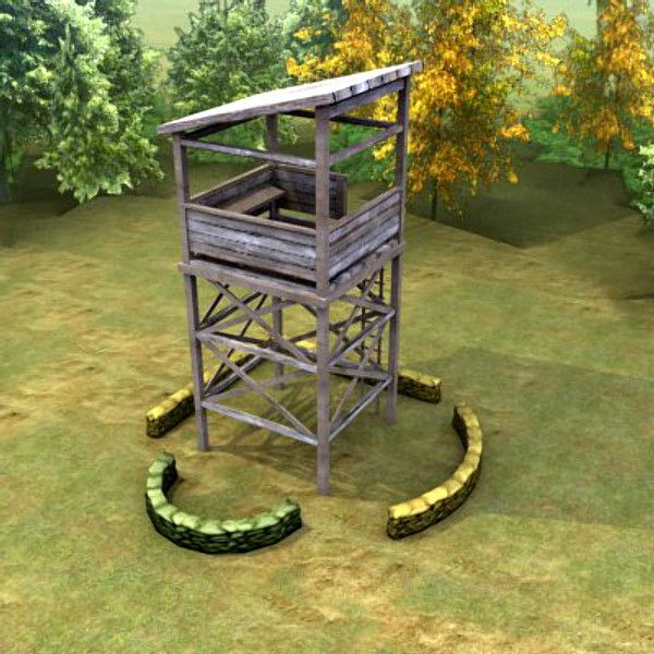 Guard Tower http://www.turbosquid.com/3d-models/multi-guard-tower-3d-max/314409