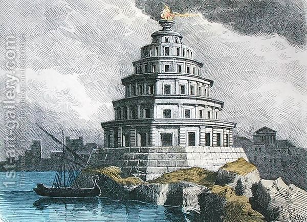 The Great Lighthouse Of Alexandria Ferdinand Knab Reproduction