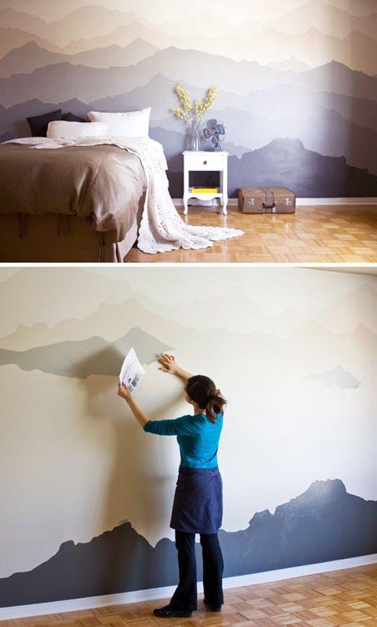 Mountain Mural Bedroom Makeover Bedroom Diy Diy Bedroom Decor