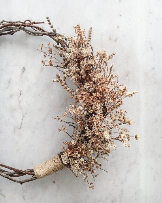 Photo of Natural Dried Wreath – Pale