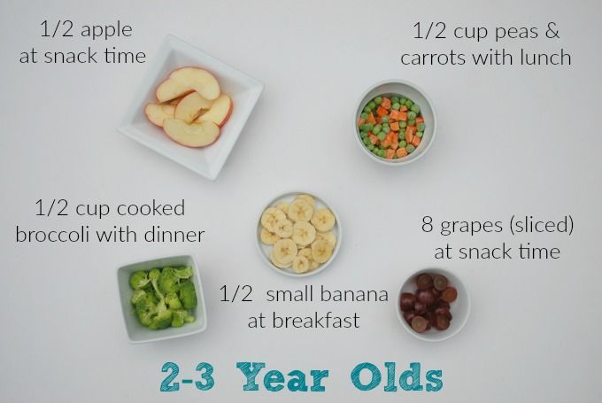 How many servings of fruit a day for toddlers