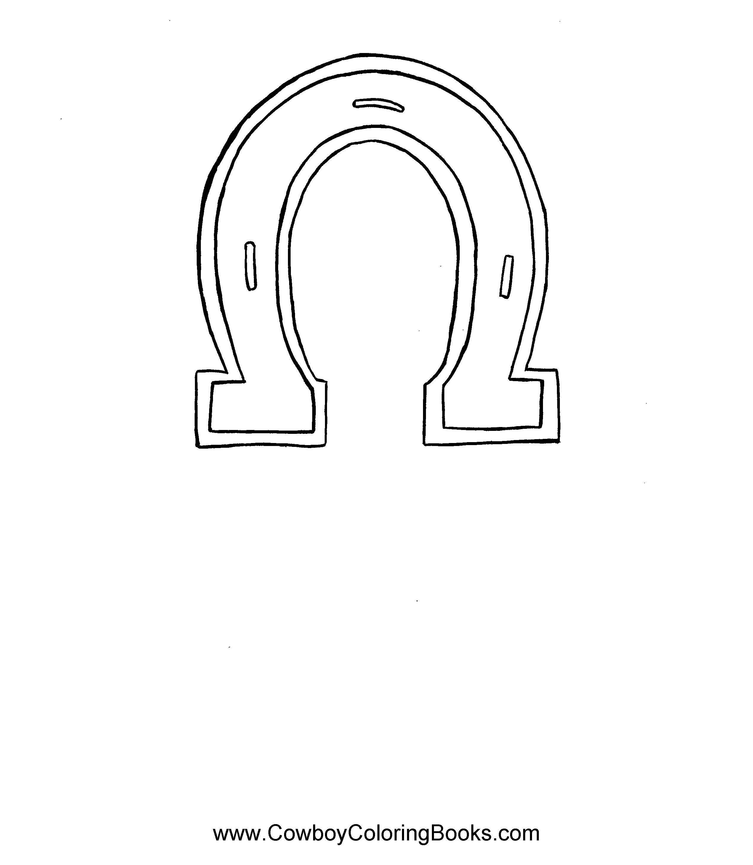 horse shoe coloring page..use for a pattern. Could make