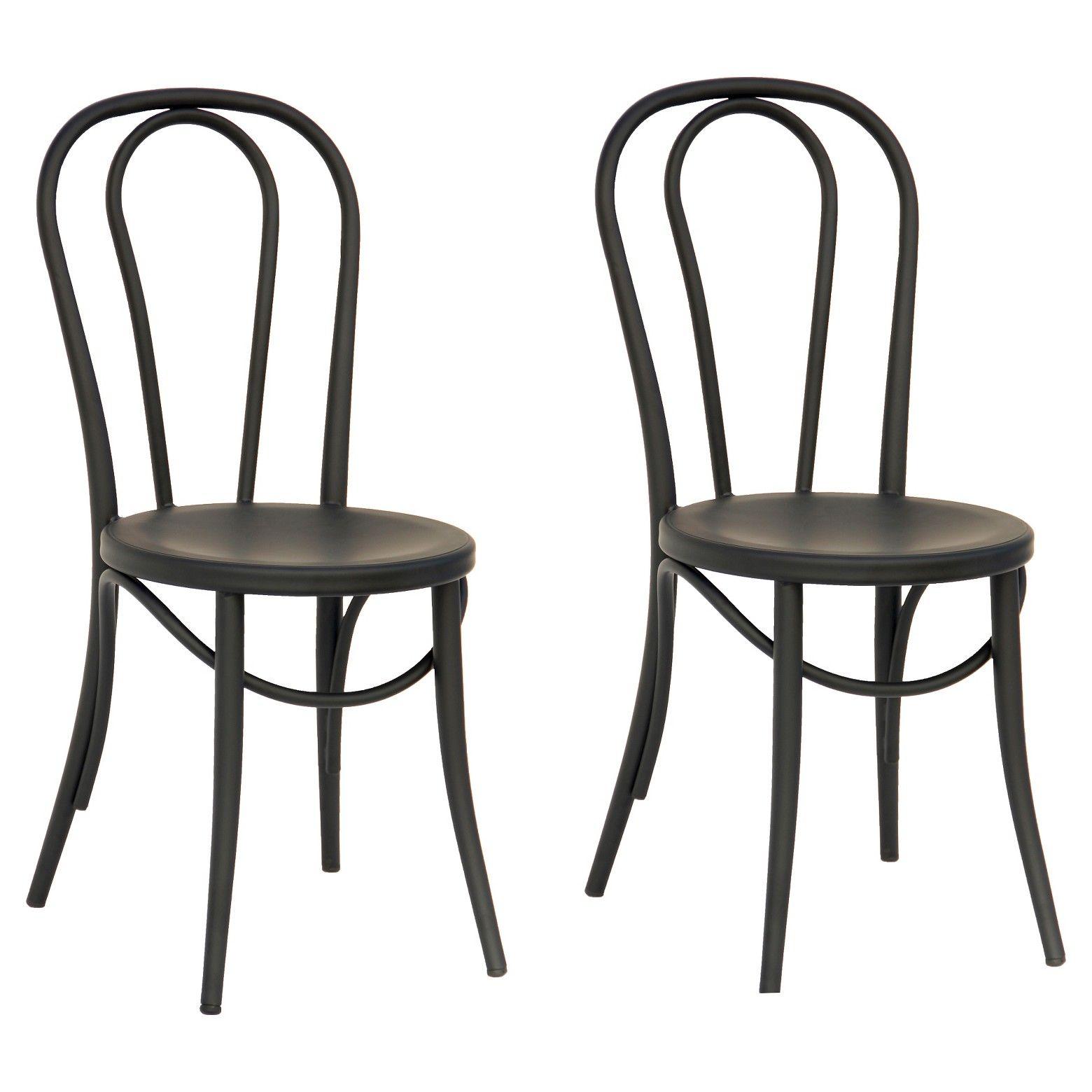 Set Of 2 Emery Metal Bistro Chair Threshold Kodin Sisustus