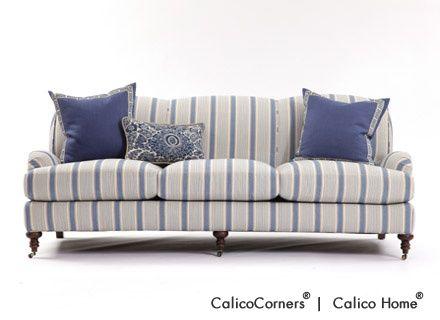 Best Blue Stripe Sofas Russell Sofa In Bronte Stripe 400 x 300