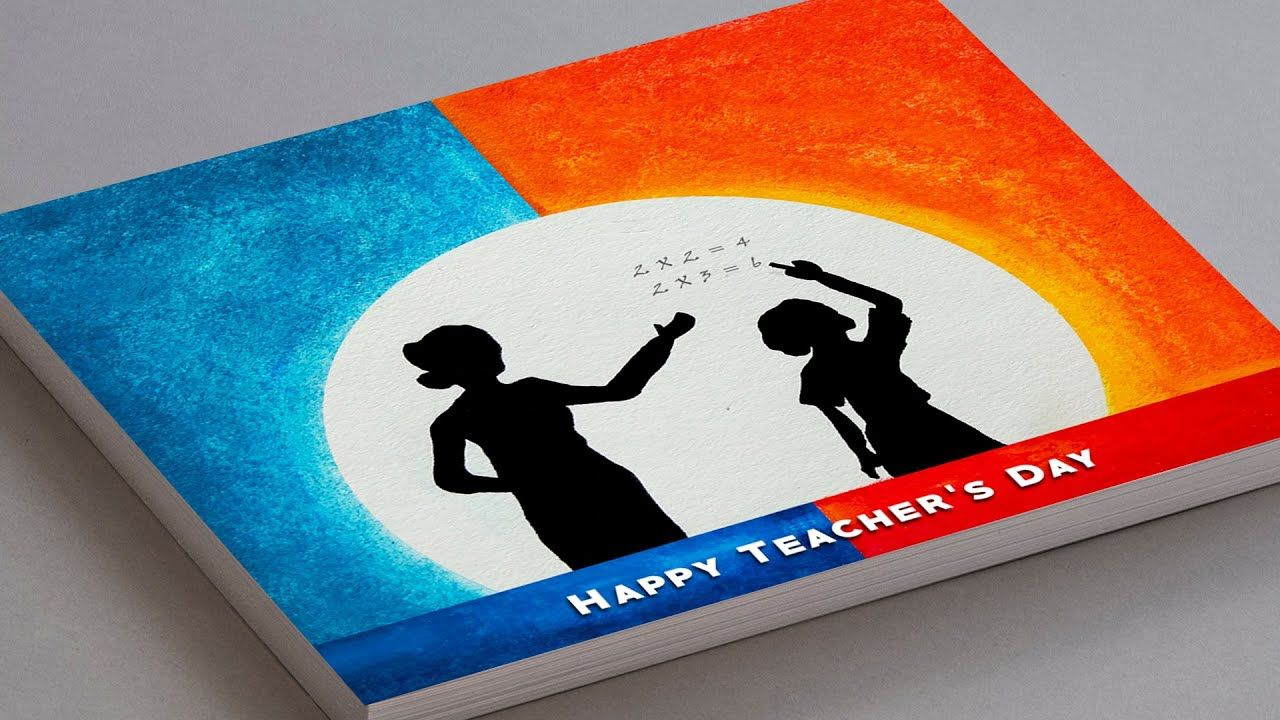 Teachers Day Drawing Card Easy Teachers Day Special Drawing Oil Pastel In 2020 Teachers Day Drawing Oil Pastel Teachers Day Greeting Card
