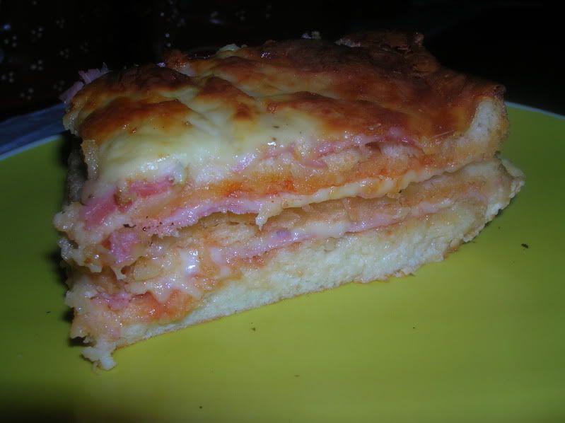 Lasanha de pão de forma