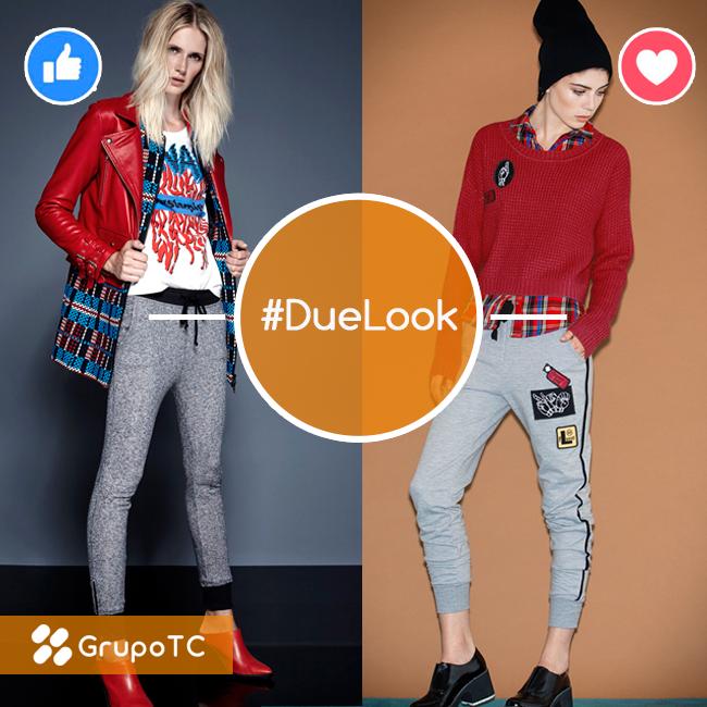 ¿Qué te parece la combinación de gris con rojo? Anímate a estos outfit de estilo casual #DueLook