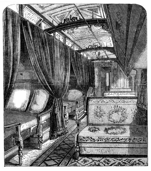 pullman sleeping cars became increasingly lavish luxury locomotive pinterest locomotive. Black Bedroom Furniture Sets. Home Design Ideas