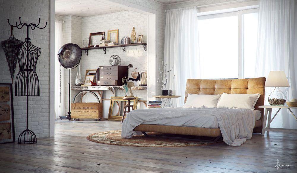 Retro Slaapkamer Meubels : Inspirerende industriële slaapkamers slaapkamers ruimtes en