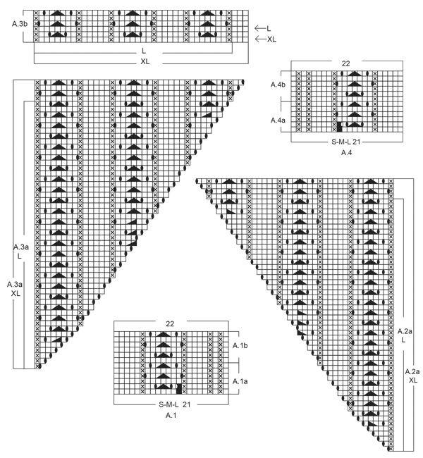 Túnica de punto con patrón de calados tejida de arriba para abajo en ...