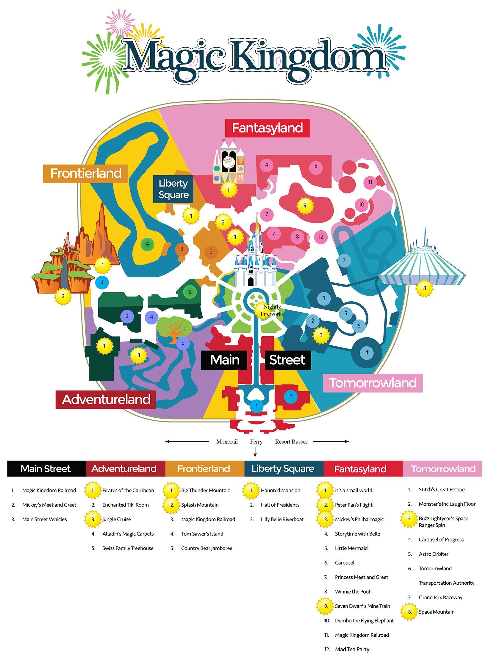 Magic Kingdom Map For Orlando Day Planner