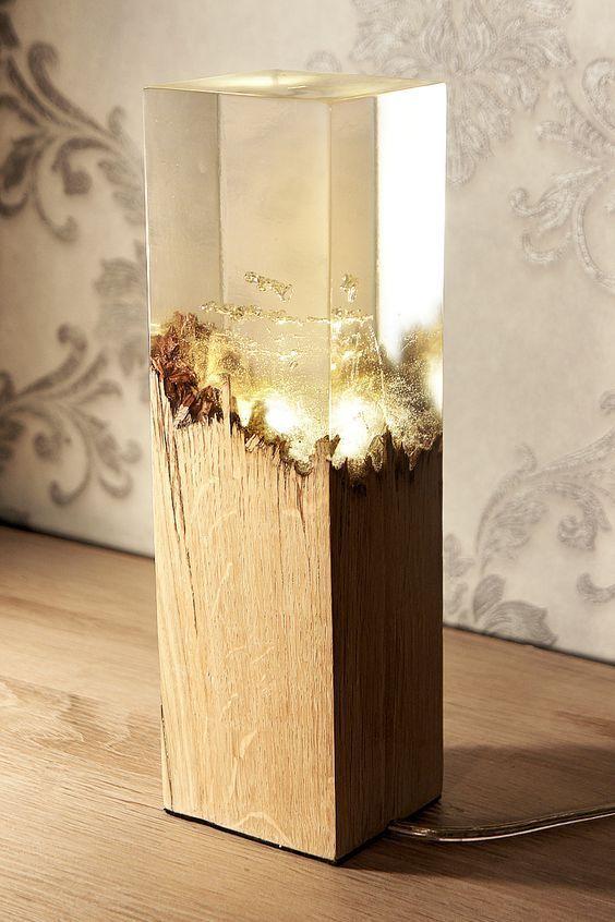 lampen aus holz und acryl