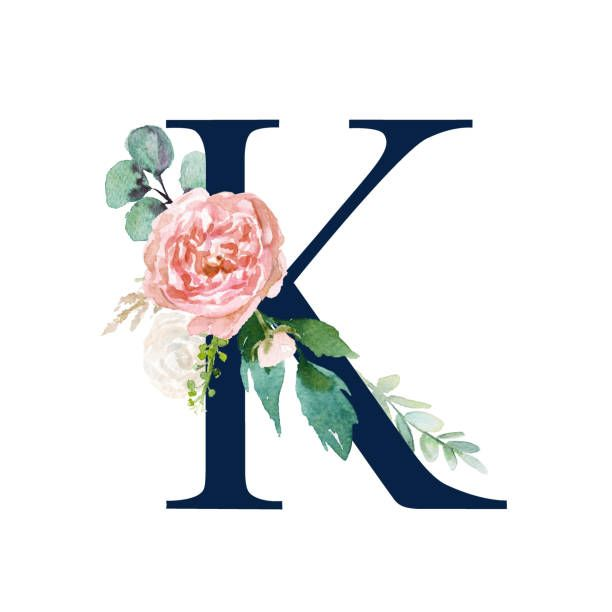 Buchstabe Letter K Monogram Wallpaper Picture Letters Floral Letters