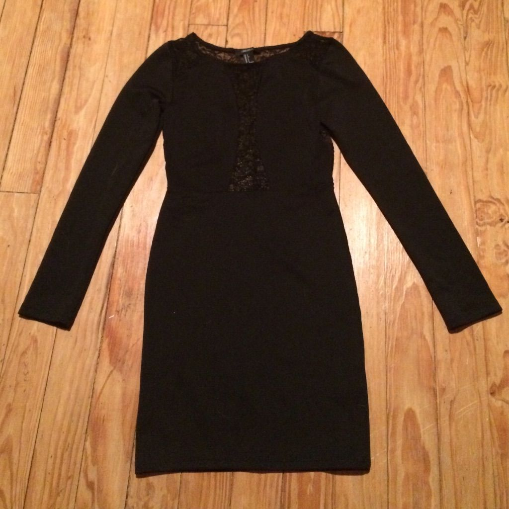 Sexy black long sleeve lace dress products