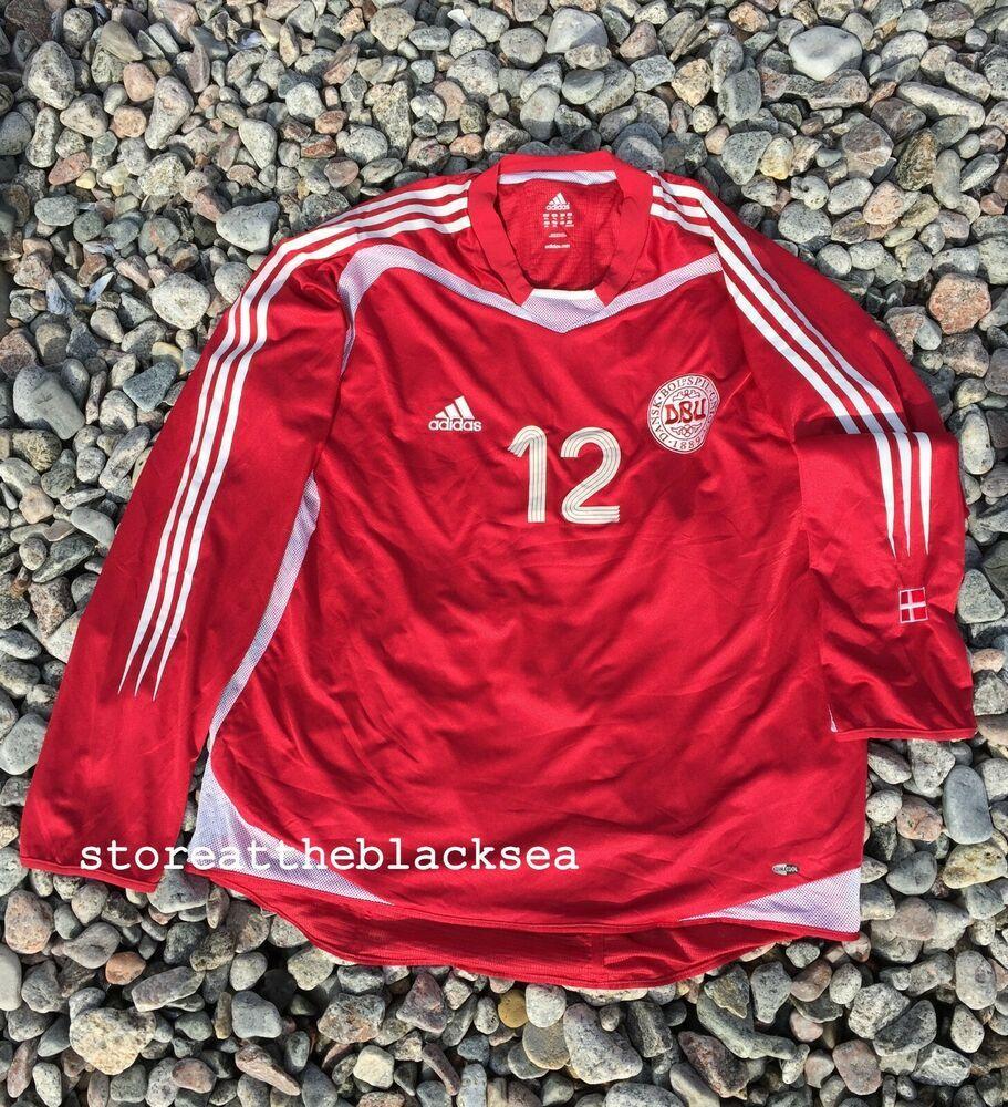 5d4233767dd DENMARK NATIONAL TEAM 2003 2004 2005  12 FOOTBALL SOCCER SHIRT JERSEY  ADIDAS 2XL  adidas