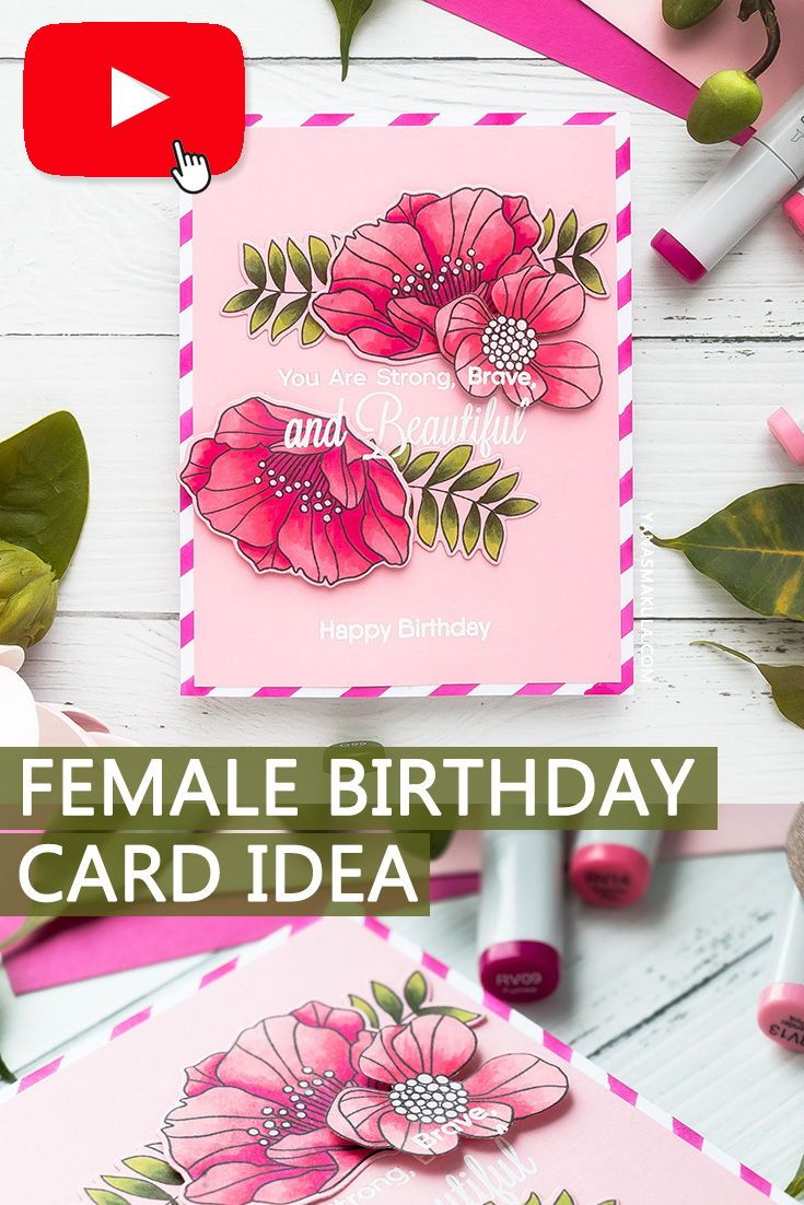 make a beautiful female floral diy birthday card with the