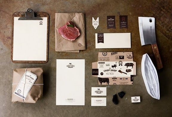 Awesome complete design for Chop Shop Neighborhood Meat Market