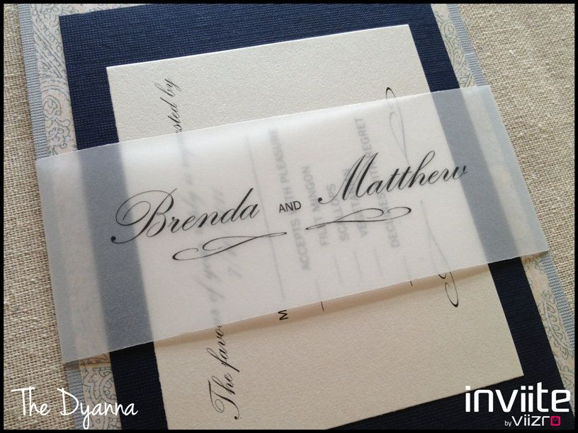 The Dyanna, Custom Separates Wedding Invitations, Navy Wedding ...