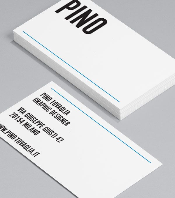 pino tovaglia this business card comes sharply dressed in crisp typography and strongly influenced by minimalist italian design straight out of the