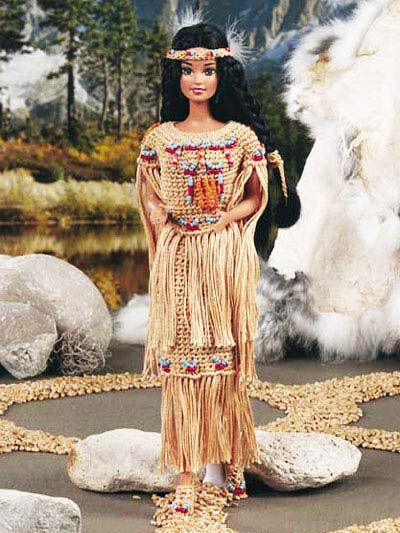 Crochet Pattern Of The Day Midnight Gold Fashion Doll Gown Pattern