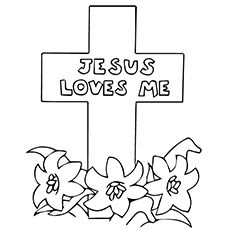 Superb Coloring Pages Of Jesus On The Cross 42 Easter Coloring Pages Cross