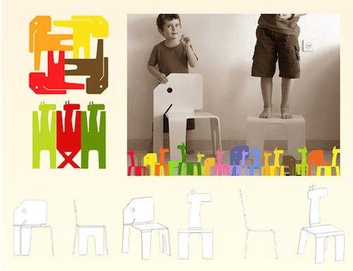animal chairs voor kinderen