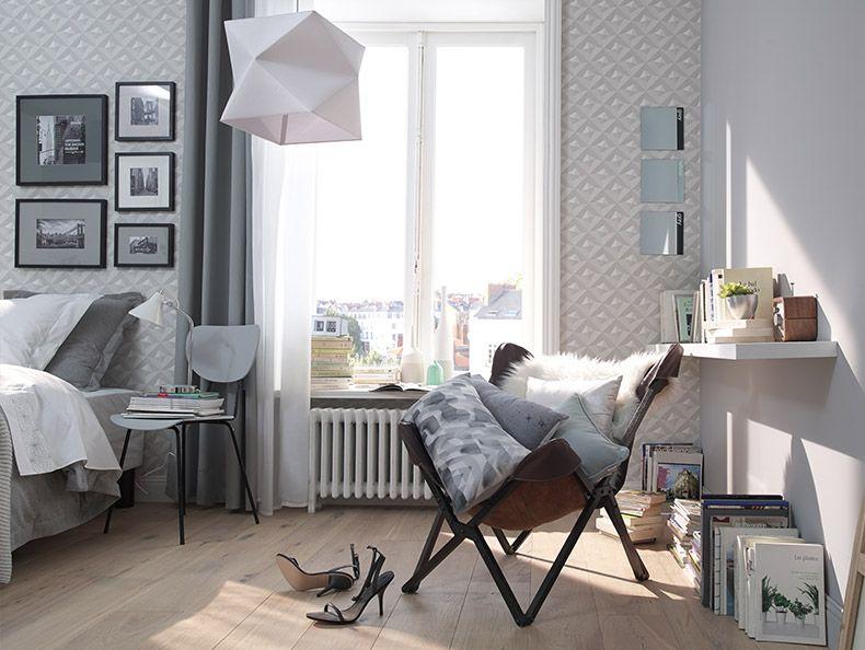 Papier peint intissé Virtual 3D blanc Interiors and Decoration - creer une maison en 3d