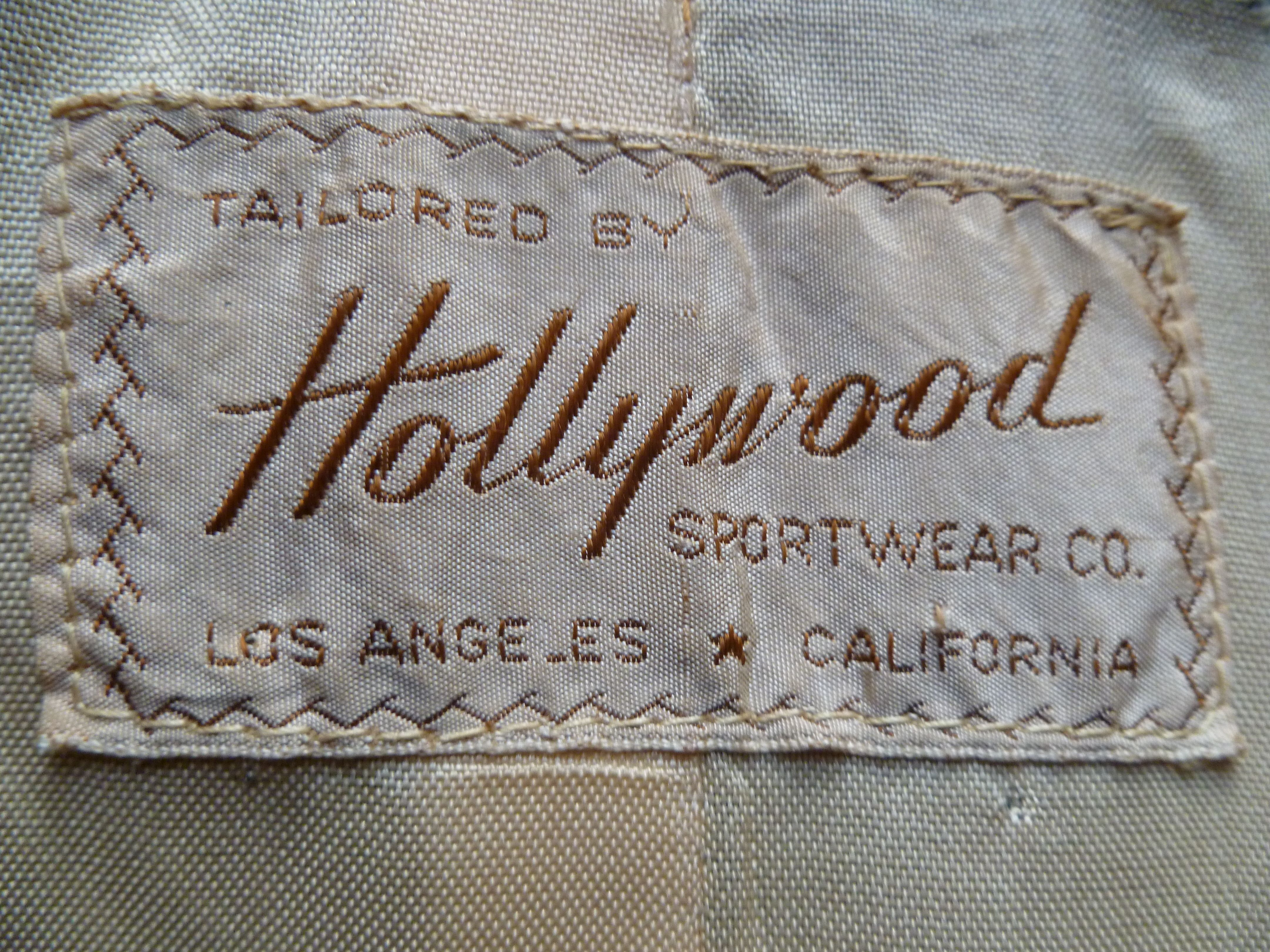 Hollywood Vintage Woven Label Woven Labels Clothing Labels Clothing Tags