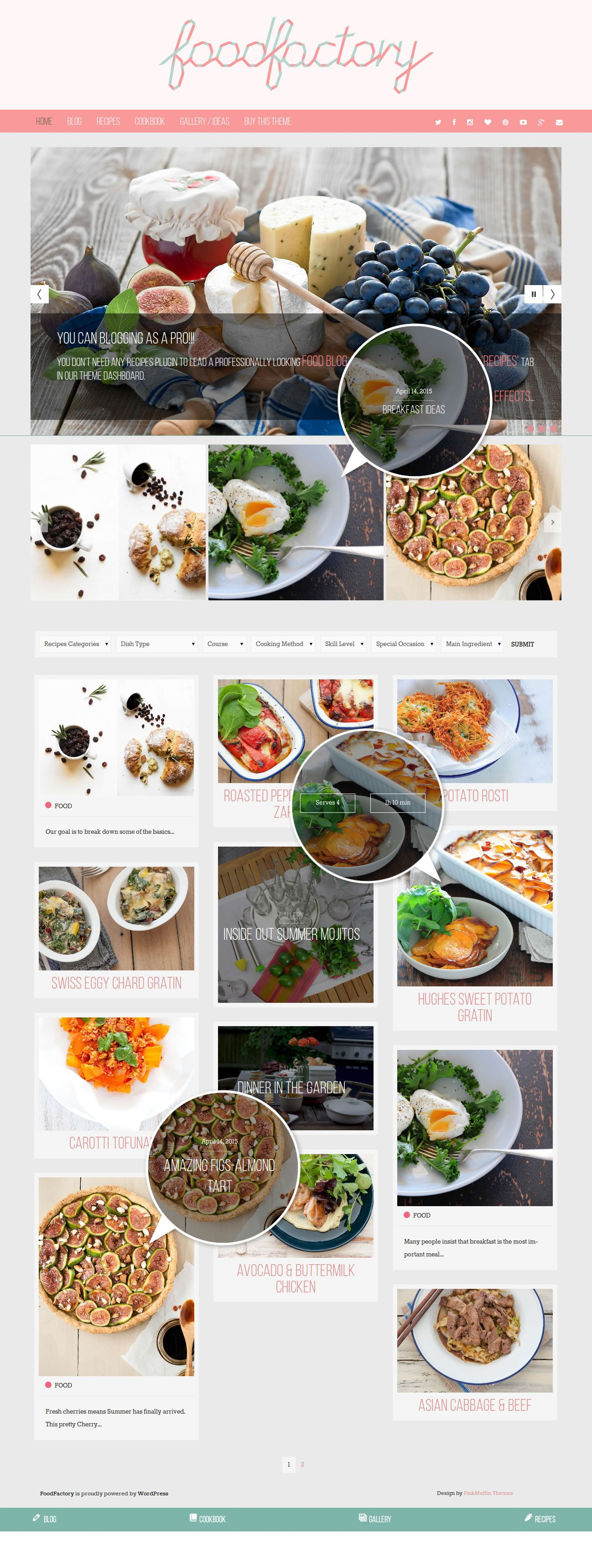 Food factory feminine food recipes wordpress theme homepage food factory feminine food recipes wordpress theme homepage featuring grid posts layout with recipe posts advertising posts and standard post forumfinder Image collections