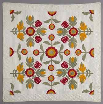 Kaleidoscopic Orange Flowers Quilt, Pennsylvania, circa 1800-1900 ... : shaker quilt patterns - Adamdwight.com