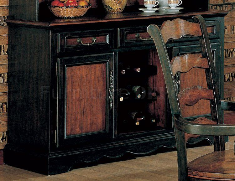 Brown And Black Two Tone Cabinets