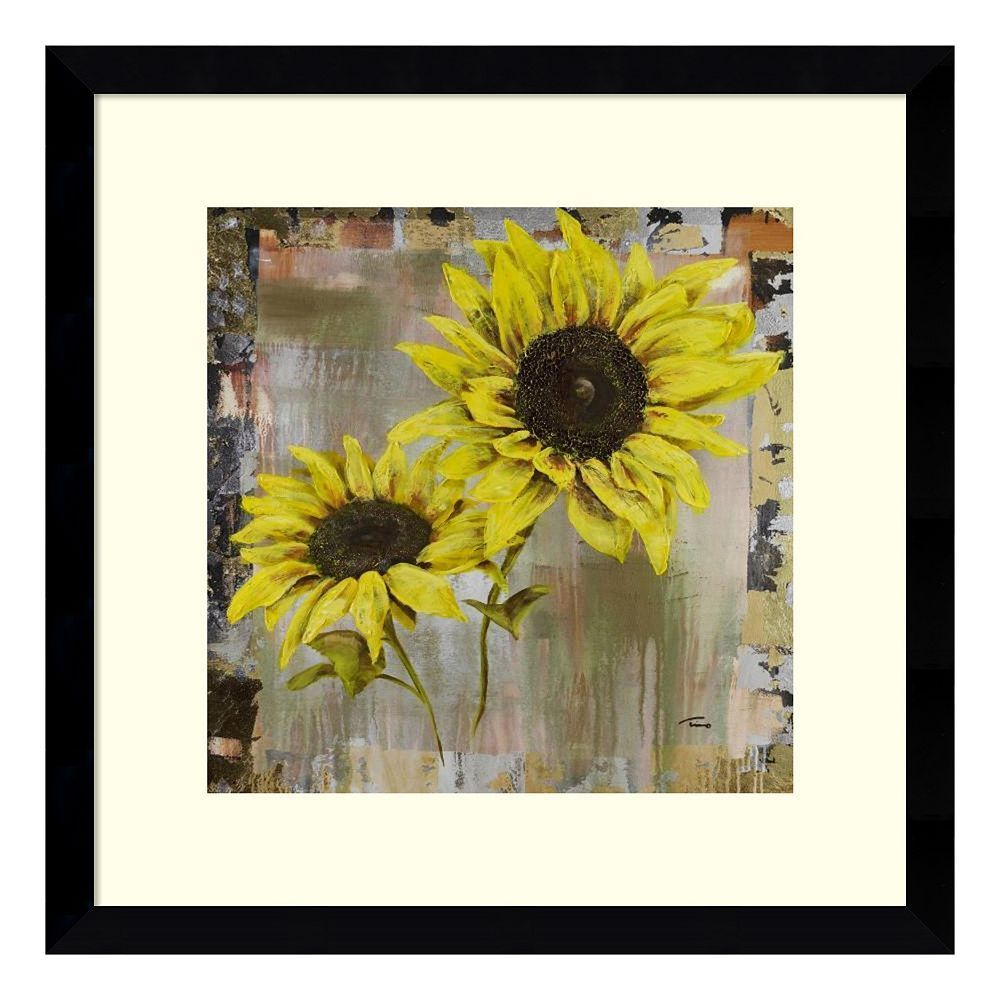 Sunflowers Framed Wall Art, Black   Framed wall art, Sunflowers and ...