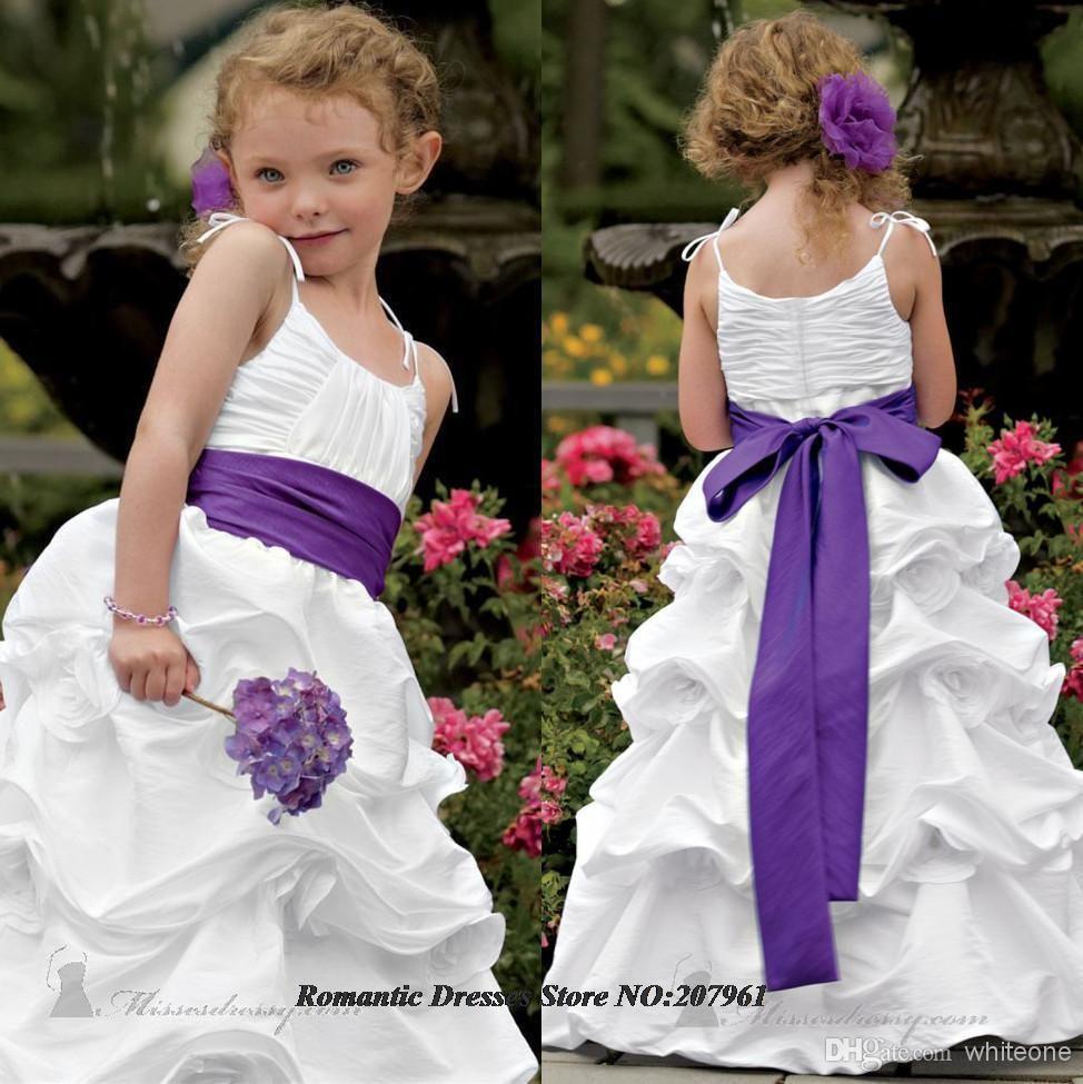 White flower girl dresses with purple sash image collections white with purple sash flower girl dresses 2016 with bow flowers white with purple sash flower mightylinksfo Choice Image