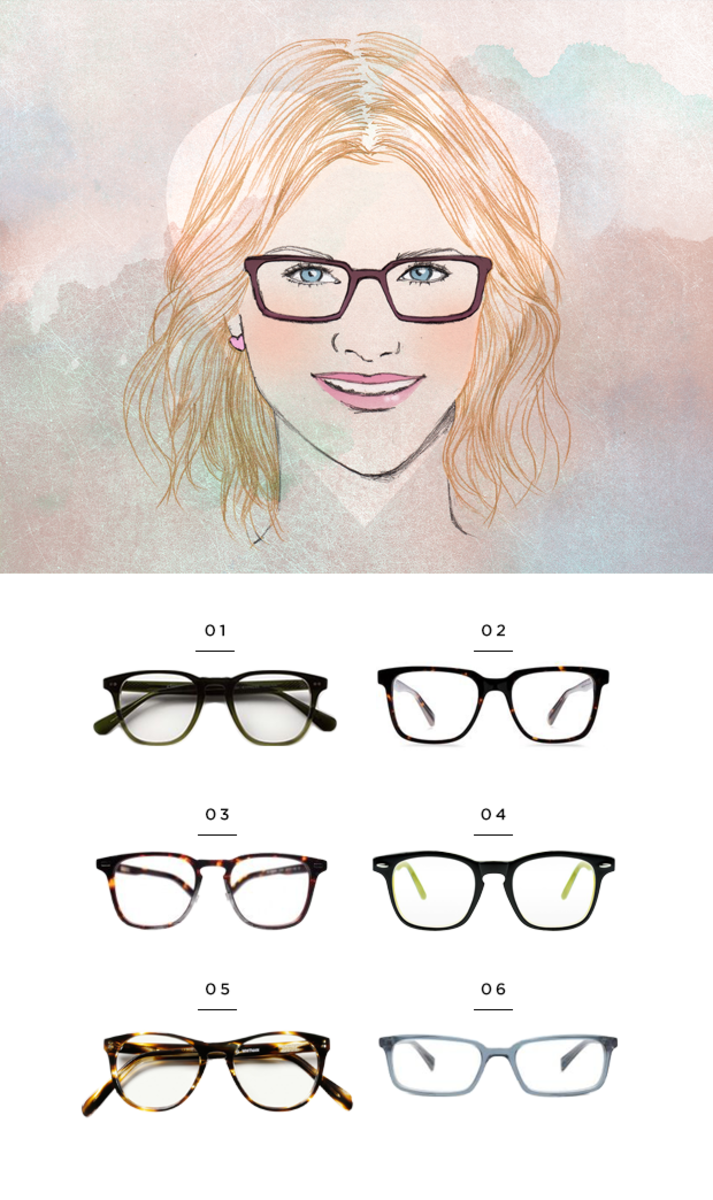 The Most Flattering Glasses for Your Face Shape | Heart shape face ...