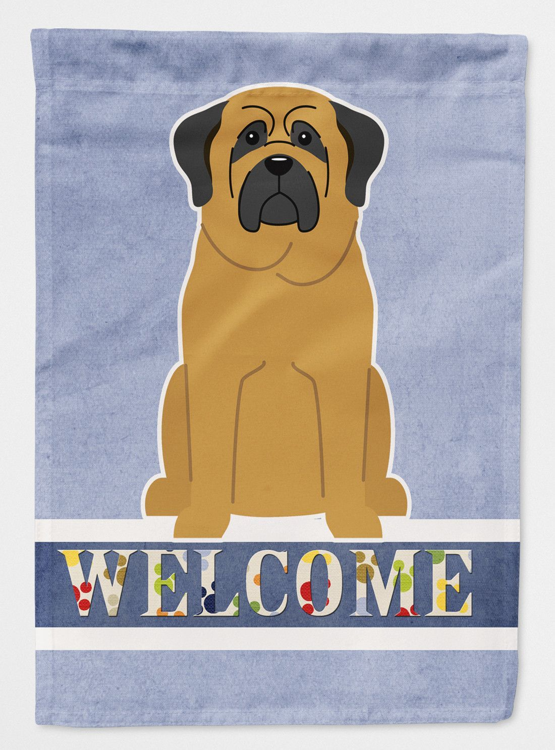 Mastiff Welcome Flag Canvas House Size BB5599CHF