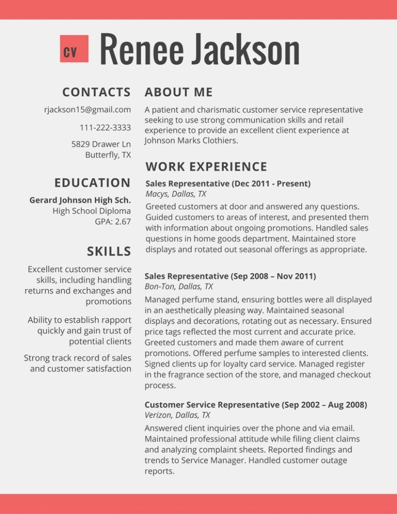 Sales Resume Examples 2017 Customer Service Resume 2017