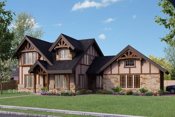 Chelsea tudor inspired floor plan on pinterest for Timber frame house plans with walkout basement