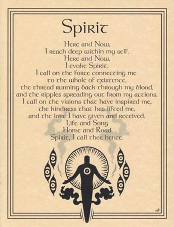 Parchment Element Of Spirit Evocation Book Of Shadows Page Wicca