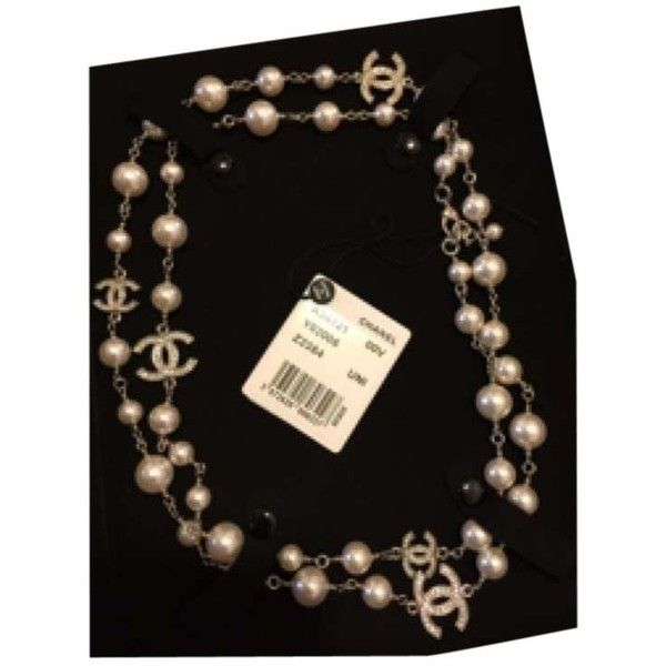 Pre-owned Pearl Necklace (144.230 RUB) ❤ liked on Polyvore featuring jewelry, necklaces, accessories, pearls, chanel jewelry, white pearl necklace, long pearl necklace, preowned jewelry and chanel necklace