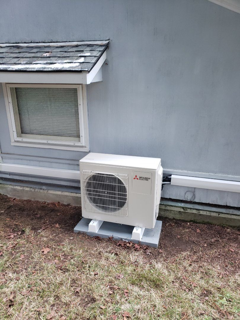 Installing A Mitsubishi 2 Head Ductless System Single Zone