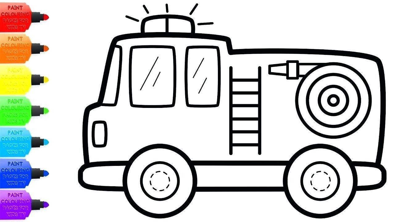 Fire Truck Coloring Page Unique Fire Truck Coloring Page Printable Dracosheet Truck Coloring Pages Valentines Day Coloring Page Coloring Pages Inspirational