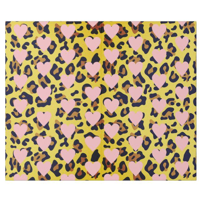 Pink Hearts Animal Print Wrapping Paper