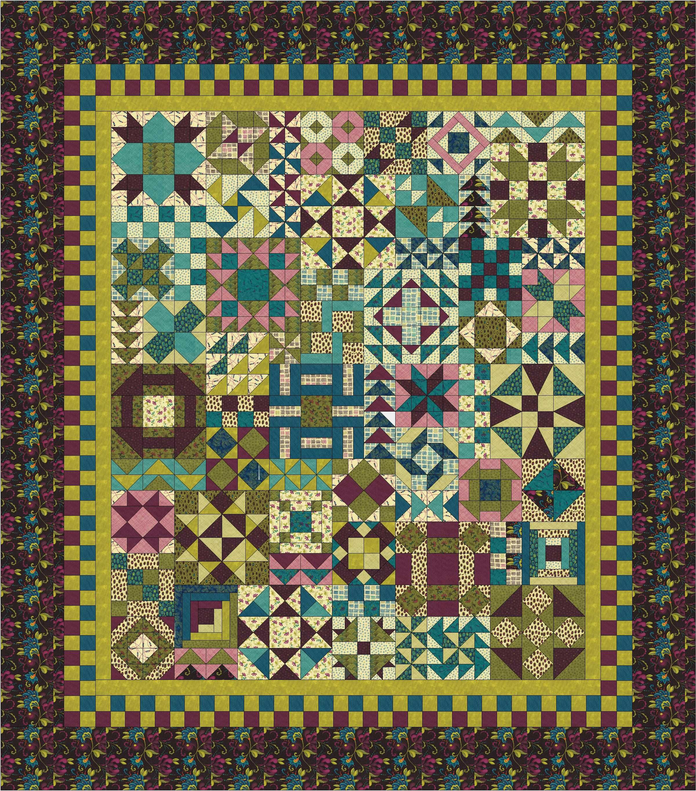 Free Pattern - Women of the Bible - notice the fabric selection ... : sampler quilt blocks free - Adamdwight.com