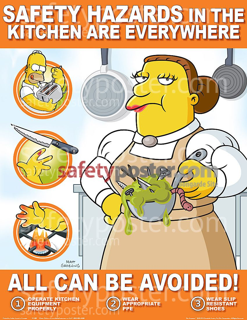 Kitchen safety poster google search activities for the for 5 kitchen safety hazards