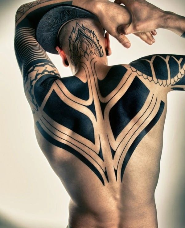 Tribal Back And Head Tattoo Designs For Guys Tattoo Tribal Guys Tribal Tattoos Back Tattoos For Guys Tribal Back Tattoos