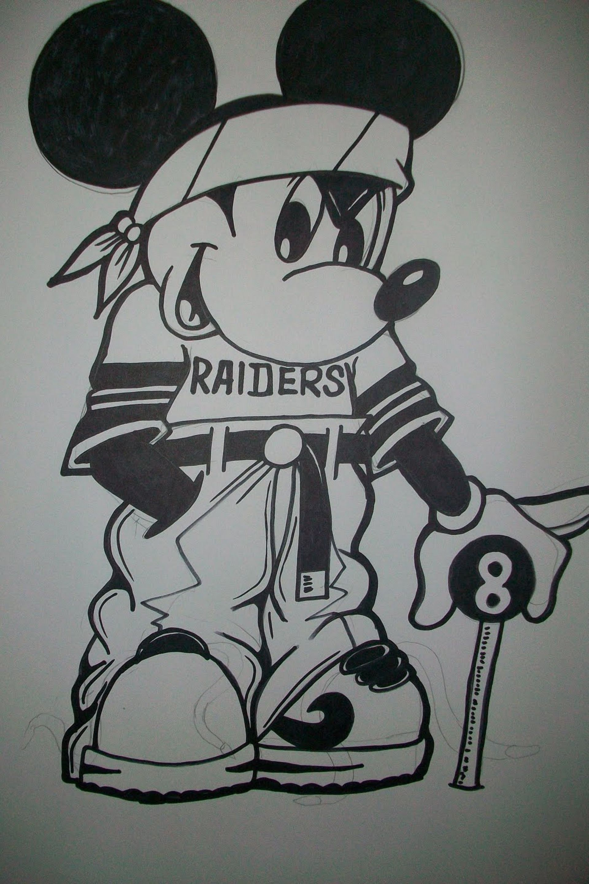 Gangster Mickey Mouse Drawing cakepins.com | Raiders Baby ...