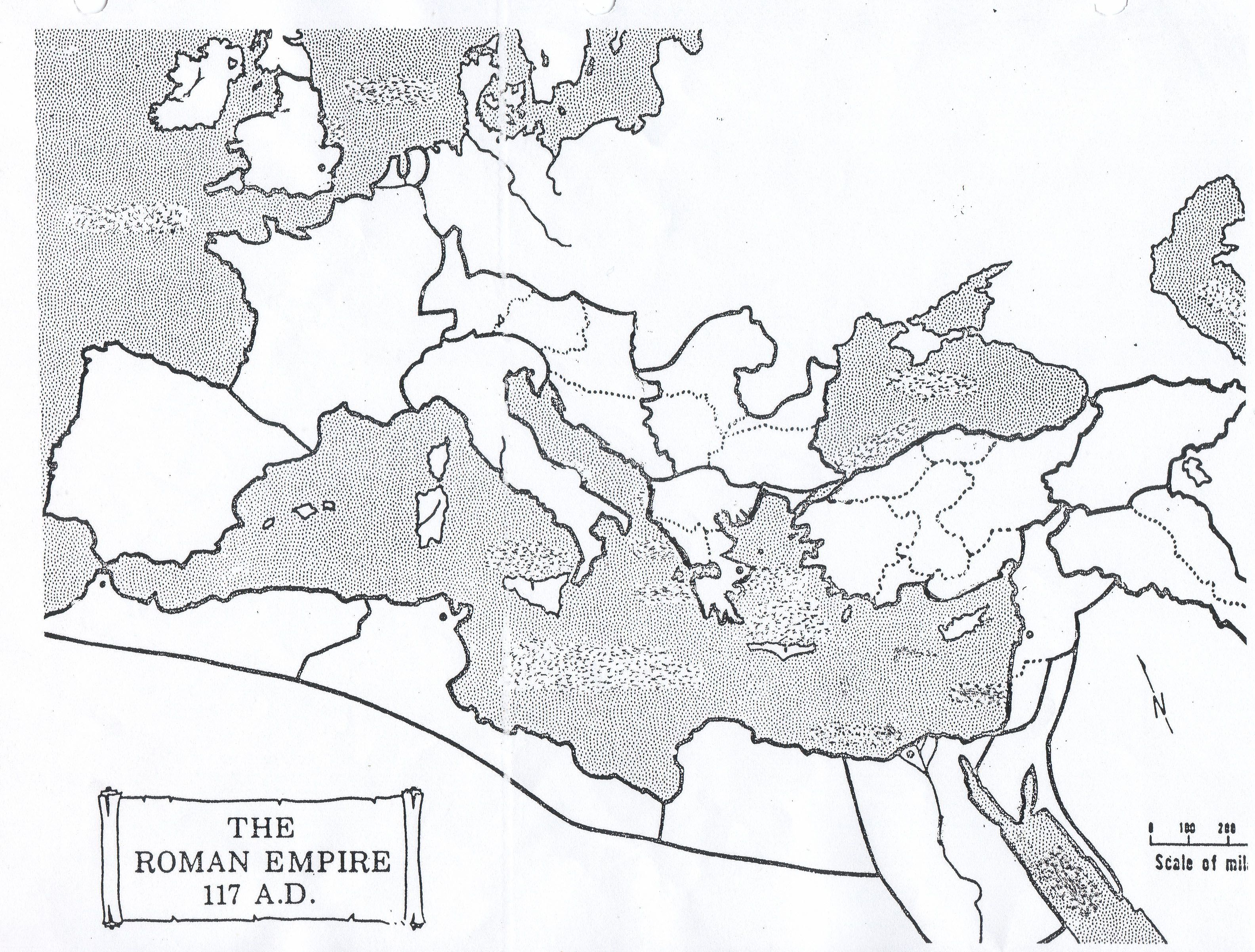 Roman Empire Map Worksheet